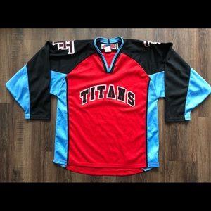 Vtg Trenton Titans Hockey Jersey M ECHL NJ NHL